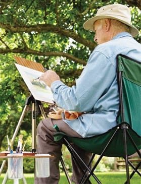 Man paints at Westmont Living