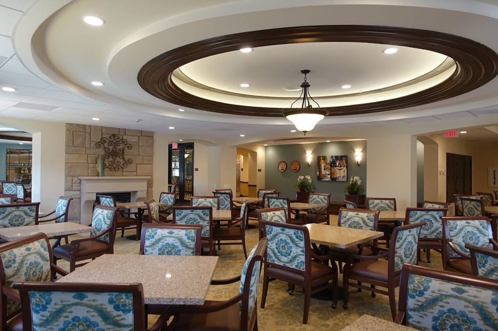 Our large, comfortable dining room at Westmont at San Miguel Ranch