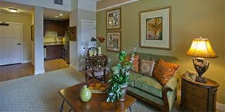 Beautiful living room at The Oaks at Nipomo in Nipomo, California