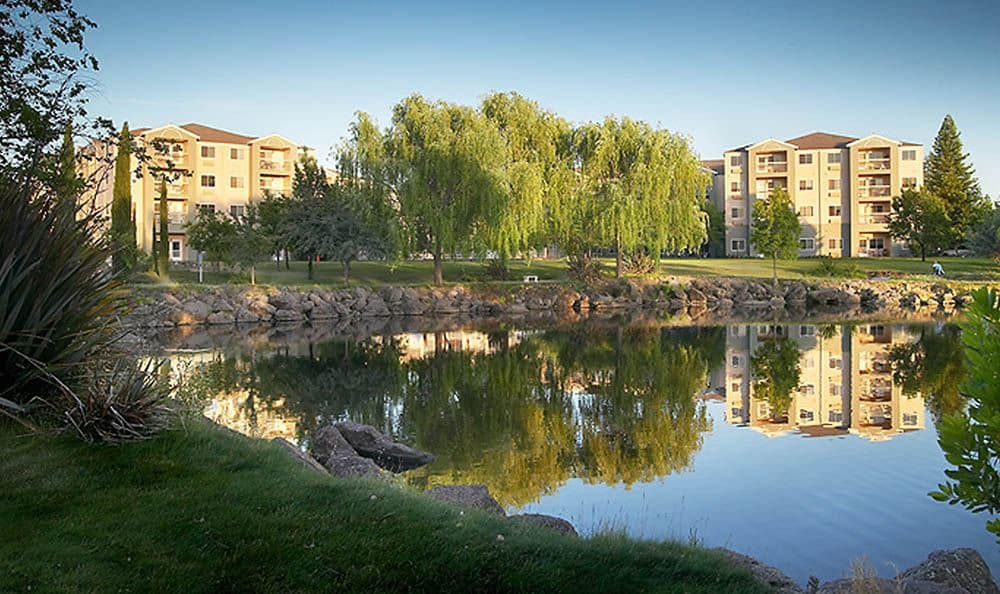 Large Pond At Our Chico Senior Living Community
