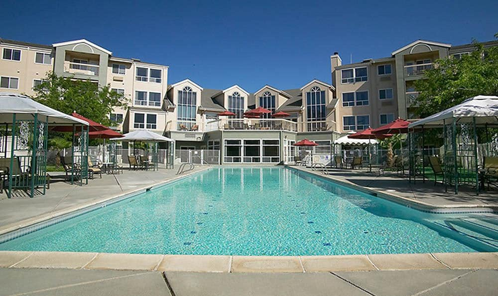 Sparkling Pool At Our Chico Senior Living Community