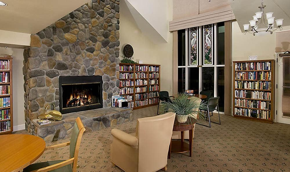 Library At Our Chico Senior Living Community