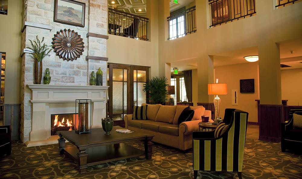 Fire Place At Our Senior Living Community In Morgan Hill Ca