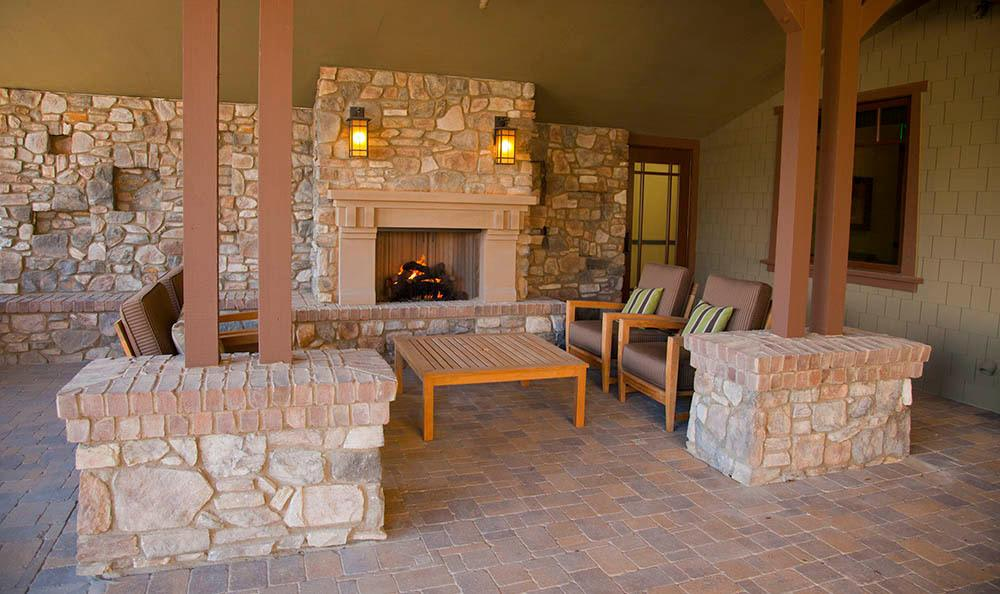 Fireplace At Our Senior Living Community In Morgan Hill Ca