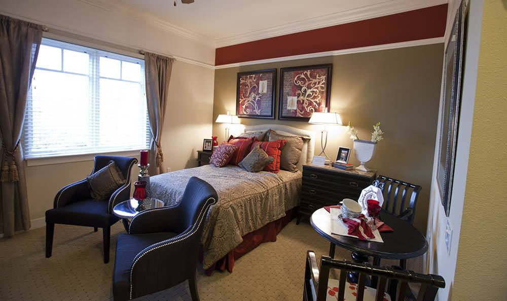 Large Bedrooms At Our Senior Living Community In Morgan Hill Ca