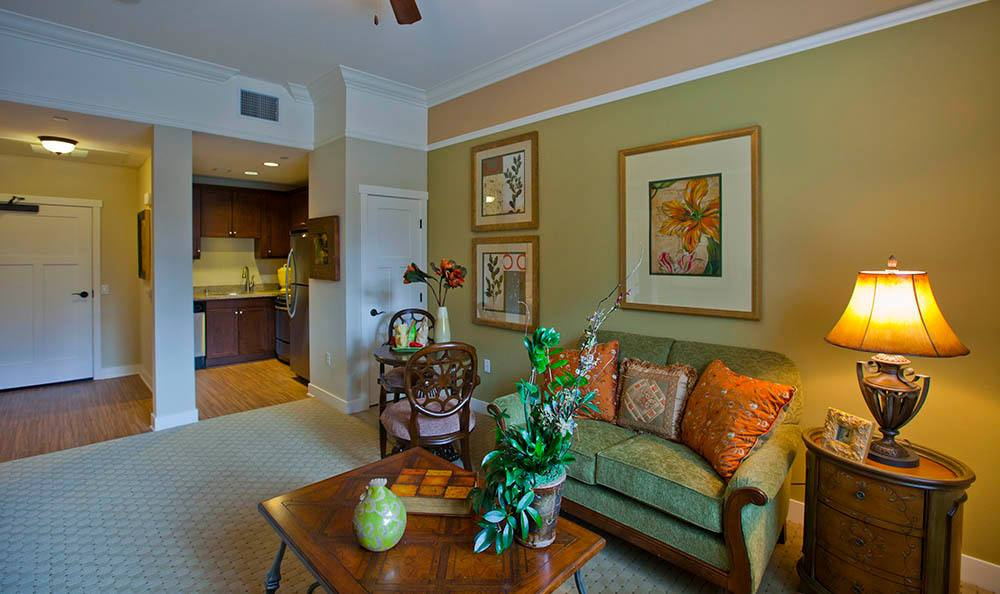 Living Room At Our Senior Living Community In Morgan Hill Ca