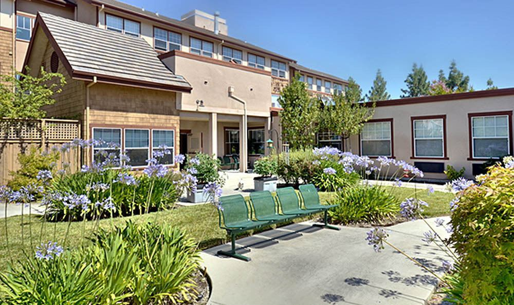 Courtyard At Our Senior Living Facility In Pinole CA