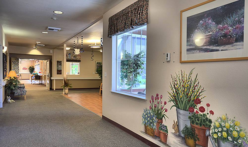 Hallway At Our Senior Living Facility In Pinole CA