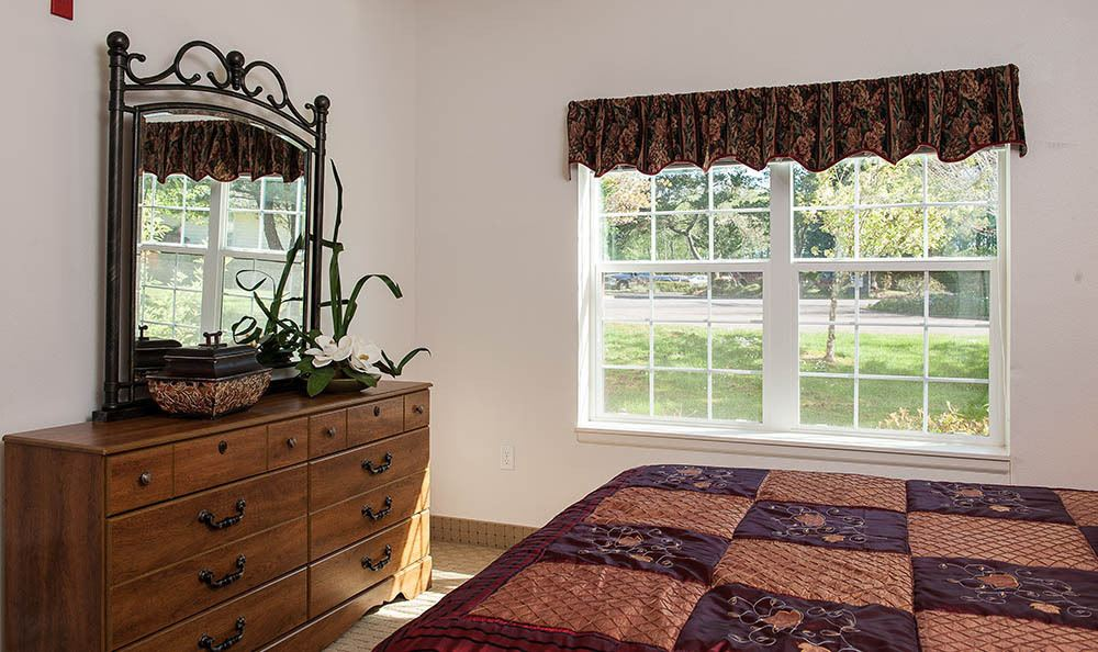 Bedroom At Our Lincoln City Senior Living Facility