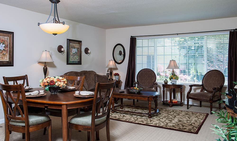 Dining Room At Our Lincoln City Senior Living Facility