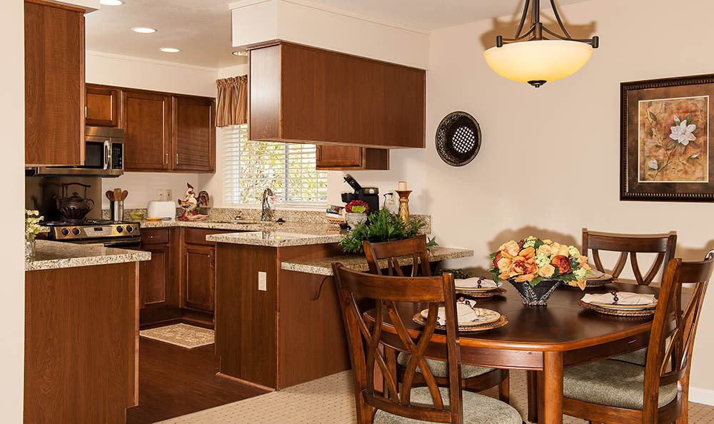 Kitchen At Our Lincoln City Senior Living Facility
