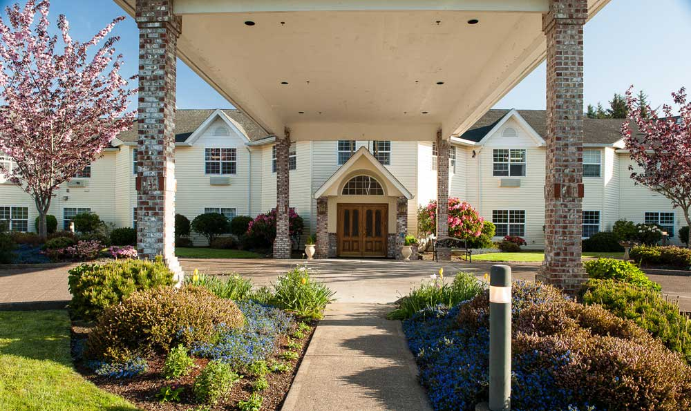Beautiful Front At Our Lincoln City Senior Living Facility