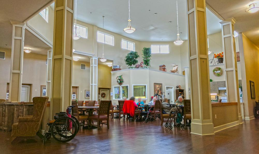 Social Area At Our Lincoln City Senior Living Facility