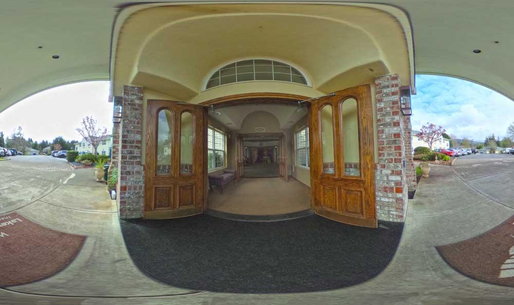 Main entrance at Lakeview
