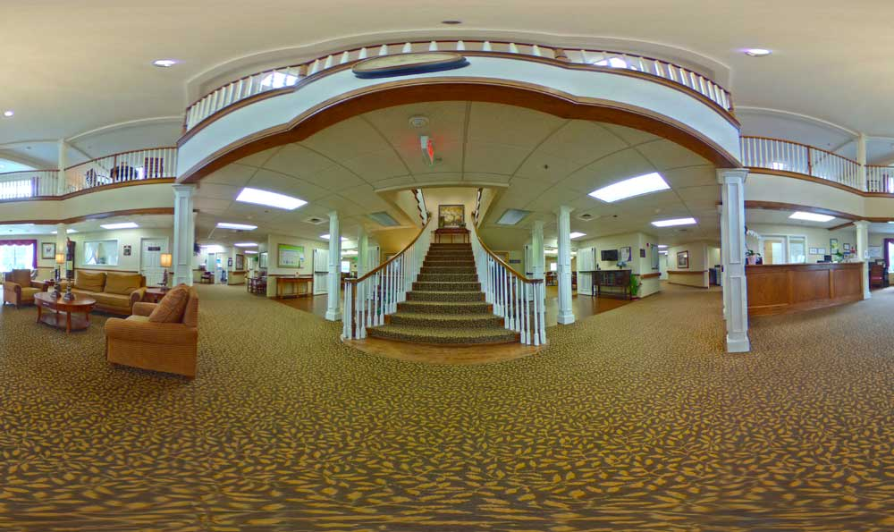 Main staircase at Lakeview