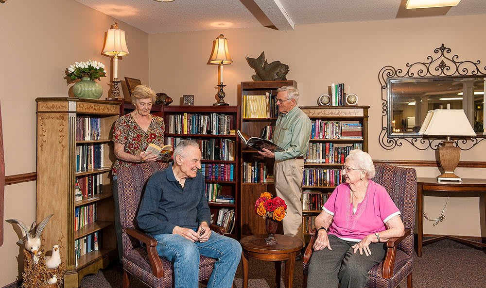 Library At Our Lincoln City Senior Living Facility