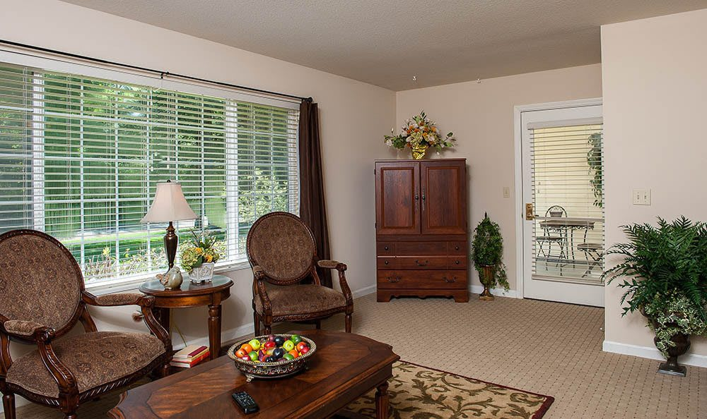 Living Room At Our Lincoln City Senior Living Facility