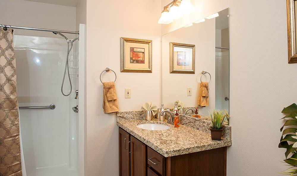 Bathroom at senior living in Lincoln City, OR
