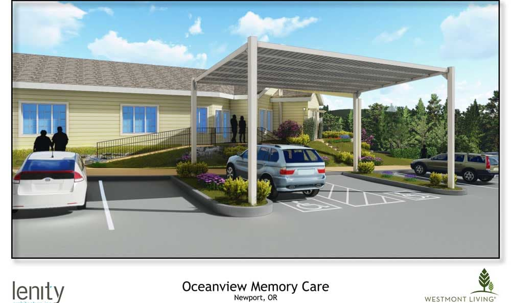 Rendering of the new Memory Care building