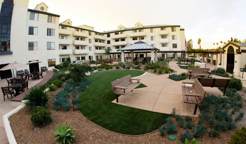 Courtyard At Our Senior Living Community In Escondido Ca