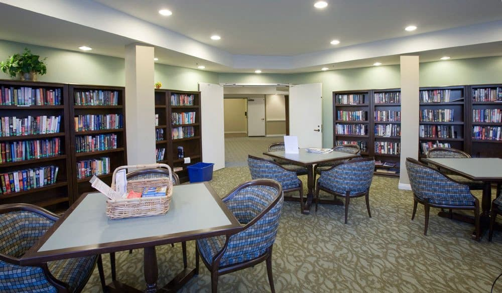 Library At Our Senior Living Community In Escondido Ca