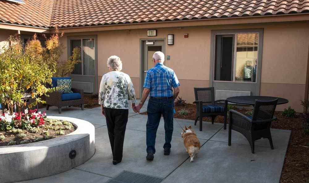 Happy Couple at Meadow Oaks of Roseville