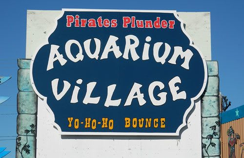 The shops at Aquarium Village represent a variety of businesses
