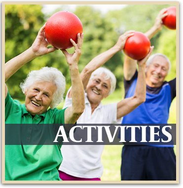 Upcoming activities at the senior living community in Atwater
