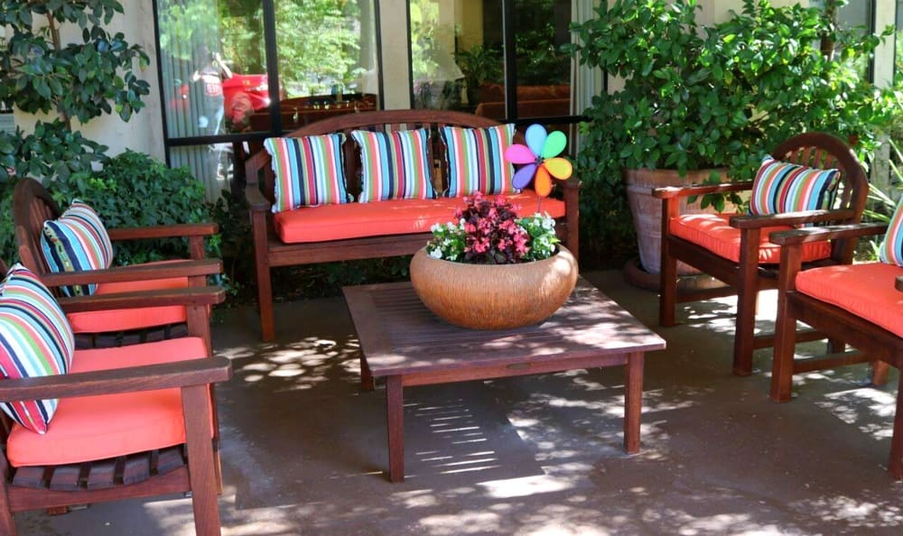 Carmichael Senior Living has a Patio Area