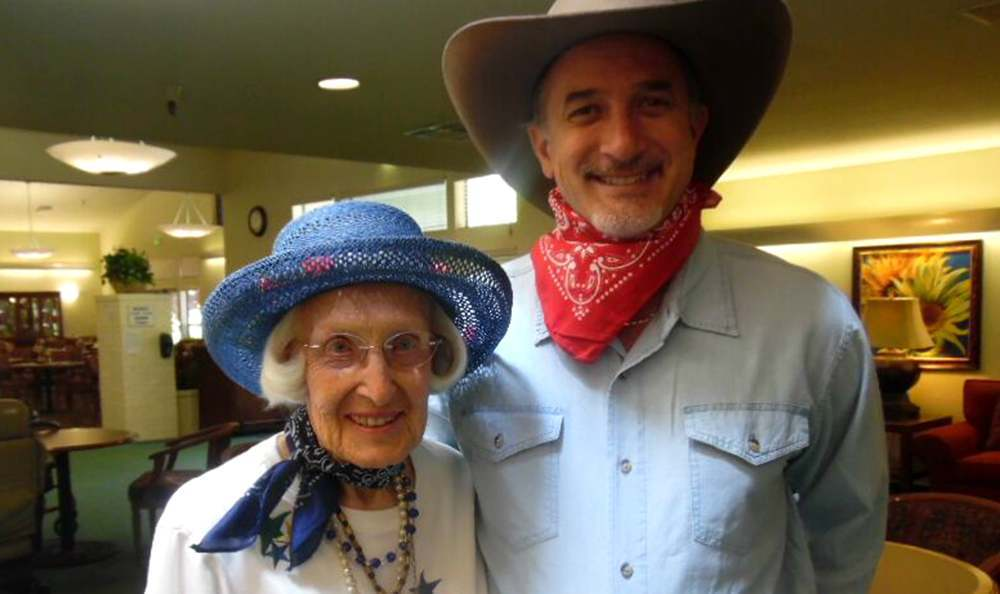 Cowboy Themed Party at the Senior Living community in Grass Valley
