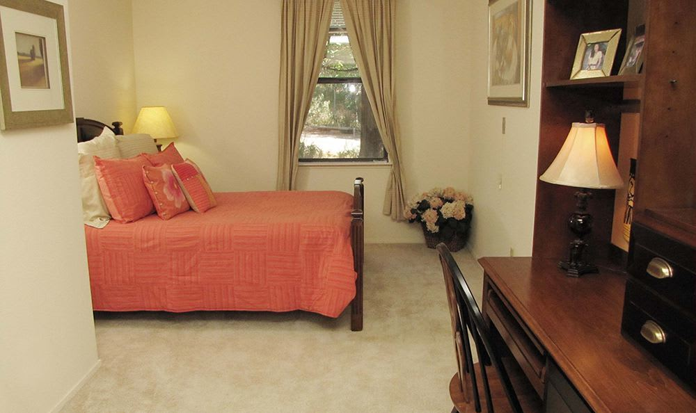 Open bedroom at the senior living community in Grass Valley