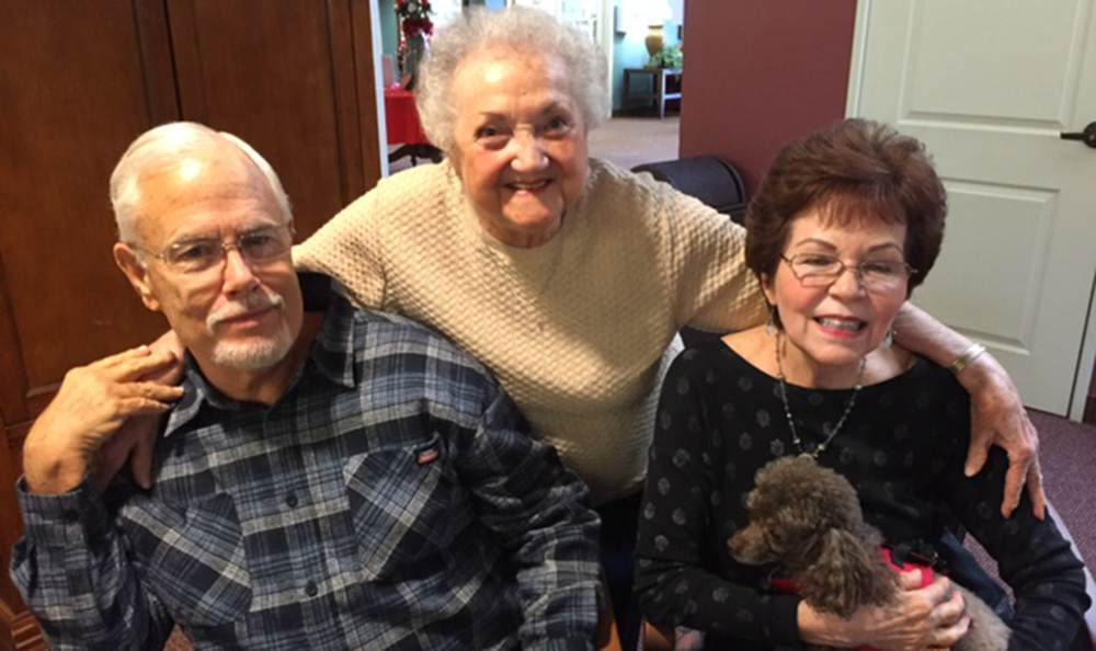 Happy Friends at the Grass Valley Senior Living community