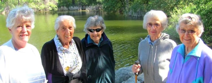 Residents enjoying the view at the senior living community in Grass Valley