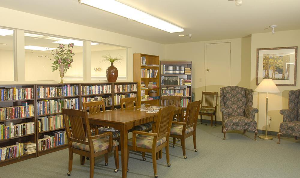 Library at the Senior Living community in Grass Valley