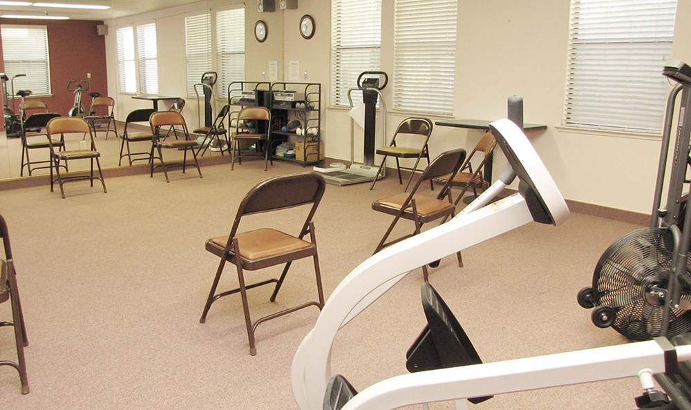Modern Gym in Grass Valley Senior Living Community