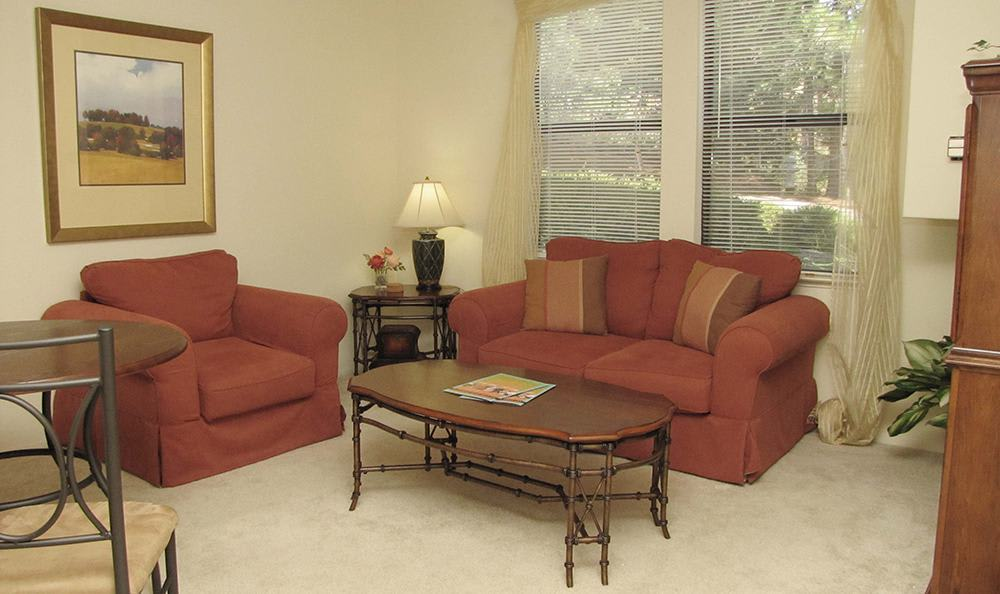 Open Living Room in Grass Valley Senior Living Community