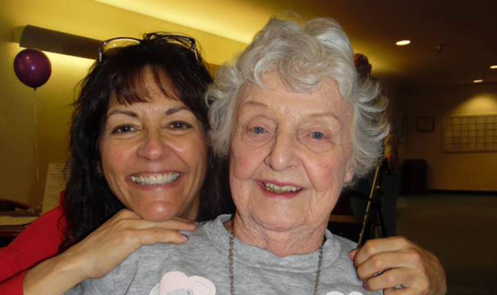 Resident And Daughter Enjoying Time Together at the Senior Living community in Grass Valley