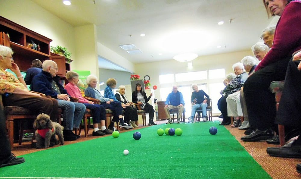 Residents playing games at the senior living community in Grass Valley