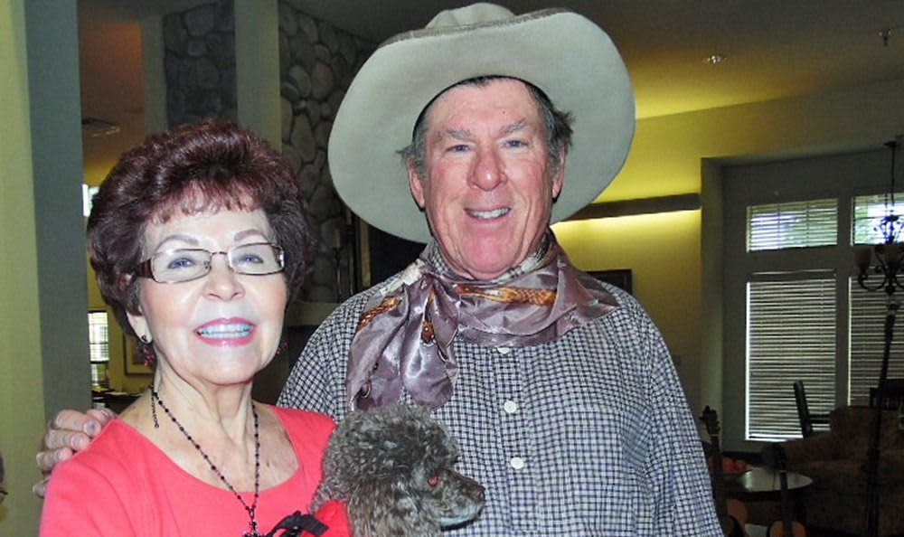 Western themed party at the senior living community in Grass Valley