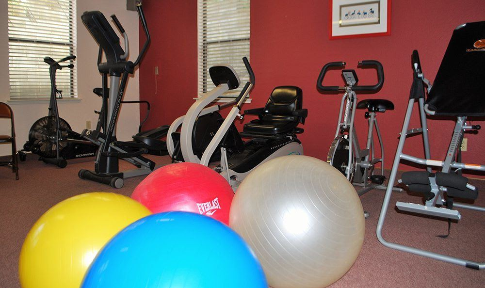 Gym at the senior living community in Grass Valley