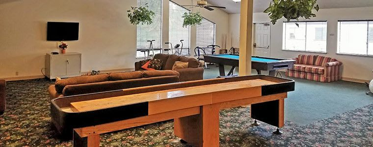Common game room at the senior living community in Sacramento