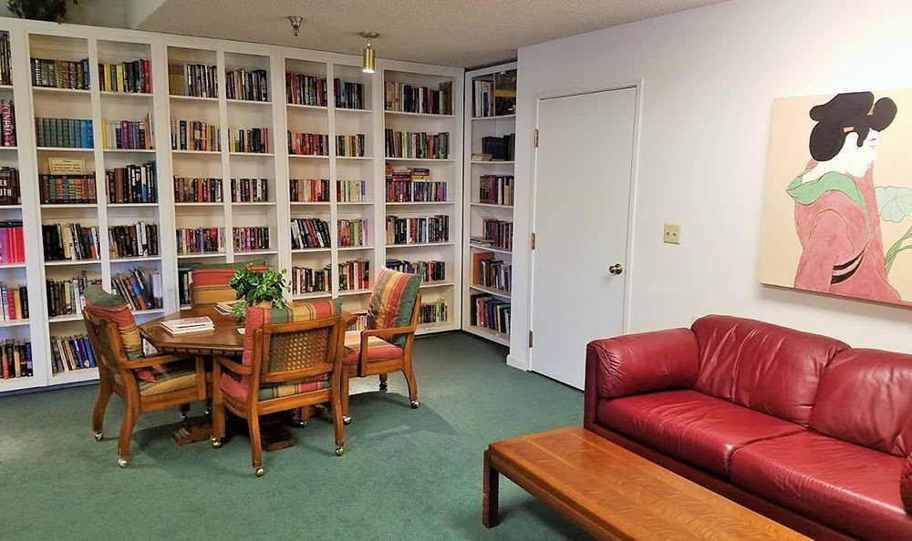 Library at the Senior Living community in Sacramento