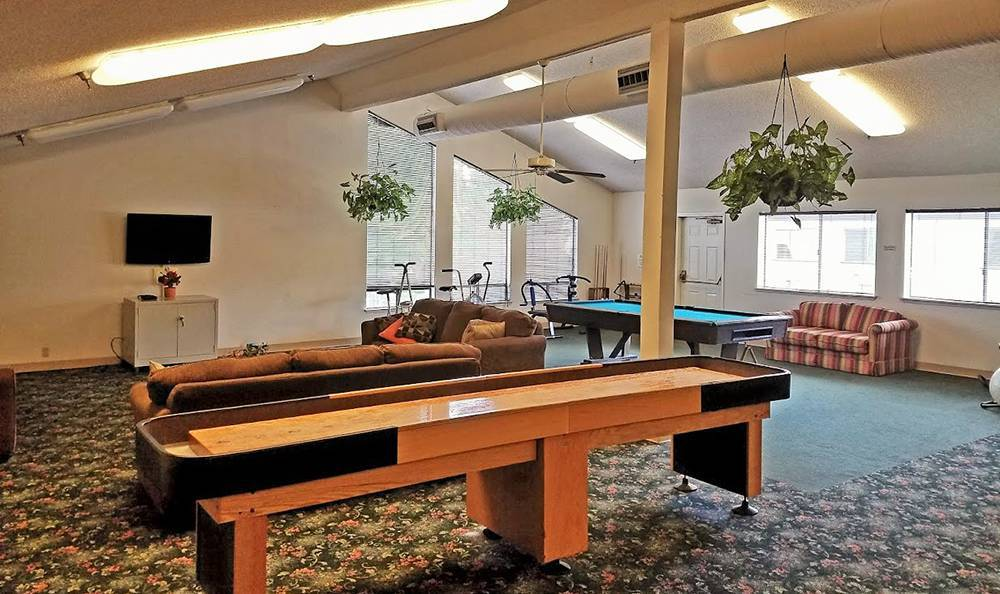 Pool Table at the Senior Living community in Sacramento