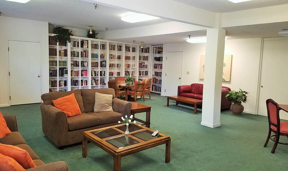 Spacious Library at the Senior Living in Sacramento