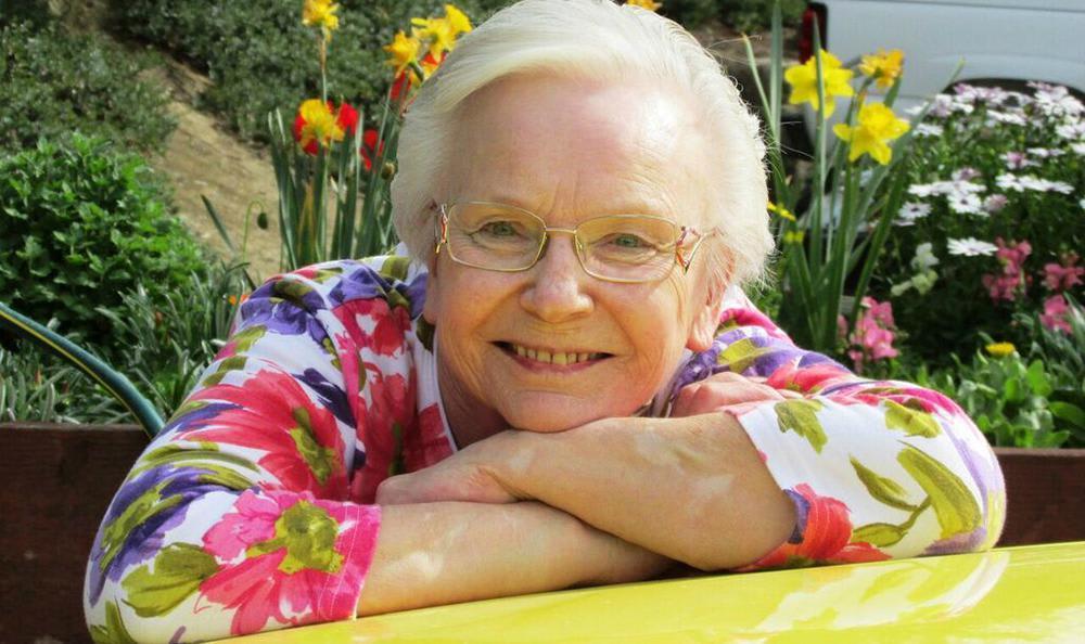 Happy resident at the senior living community in Carmichael