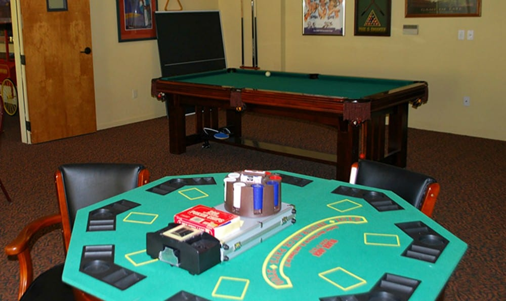 Game Room at the Senior Living in Carmichael