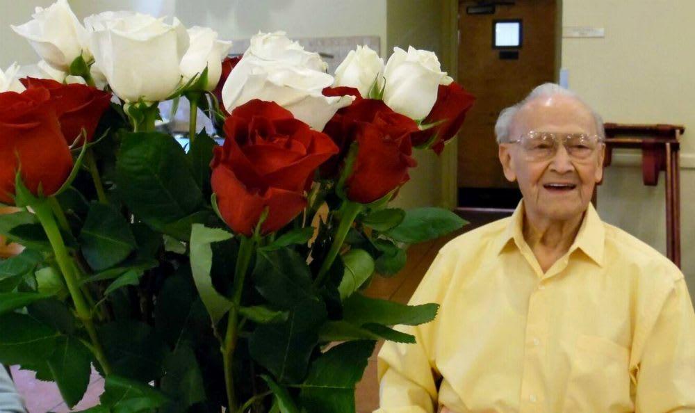 Resident flowers at the Senior Living in Carmichael