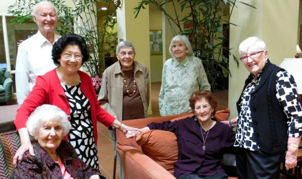 Residents Toasting at the Senior Living in Carmichael