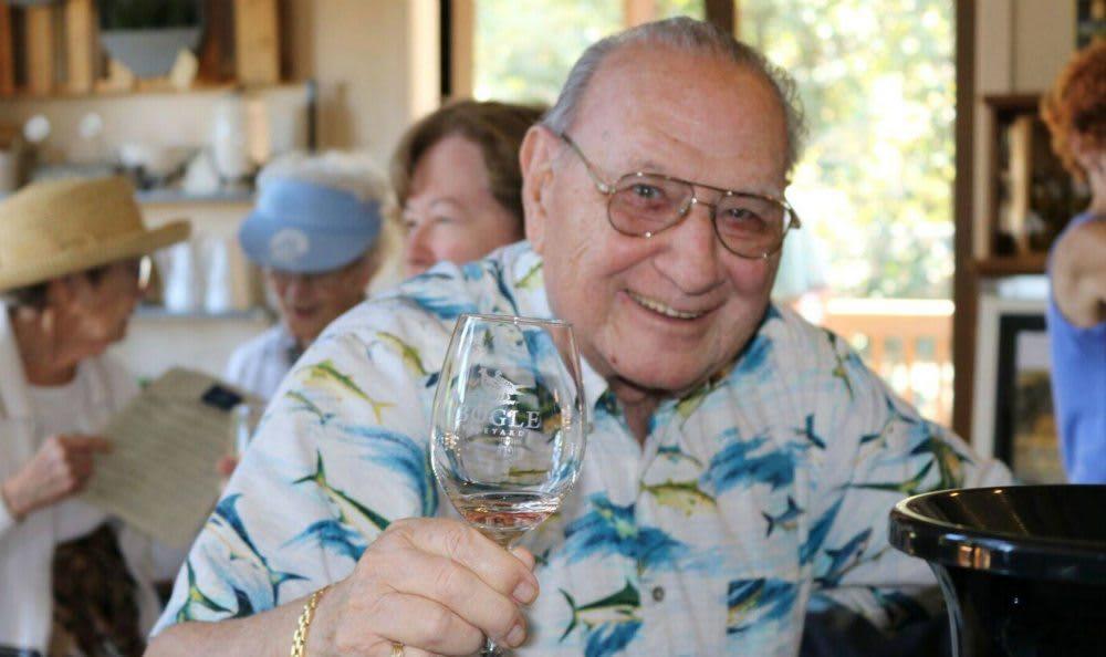 Resident wine tasting at the senior living community in Carmichael