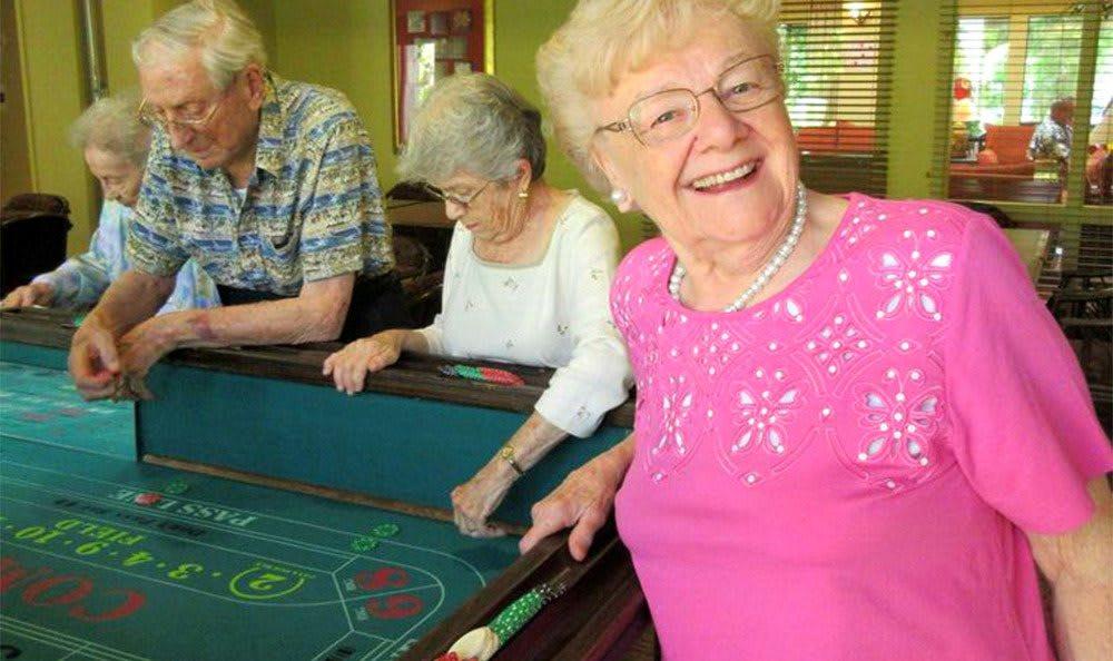 Poker Games at the Senior Living in Carmichael